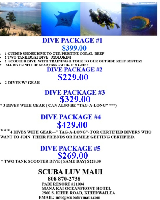 Maui Dive Packages